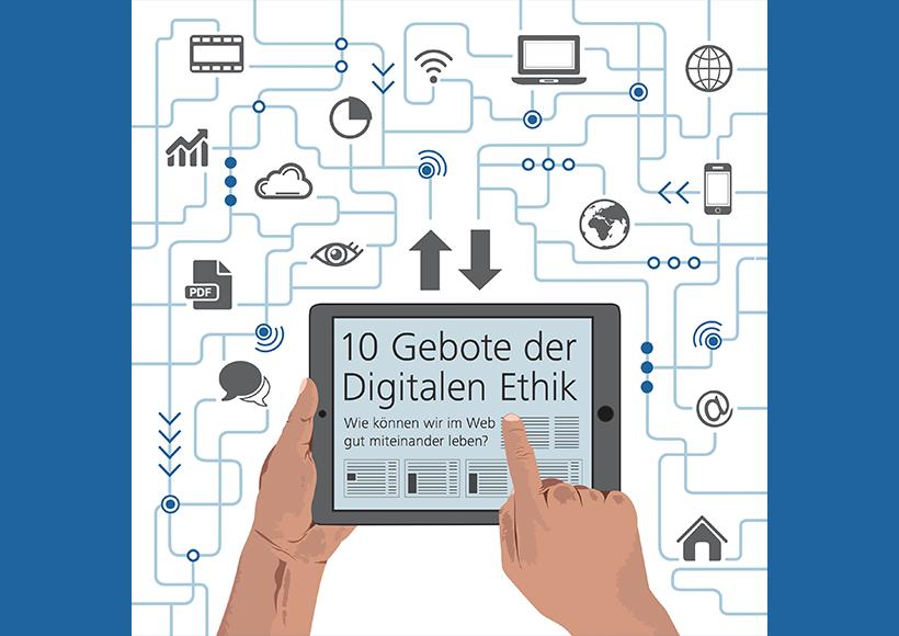 Bildauschnitt von der Startseite 10 Gebote der Digitalen Ethik