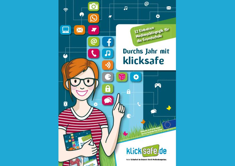 Bildauschnitt von der Startseite Durchs Jahr mit klicksafe – 12 Einheiten Medienpädagogik für die Grundschule