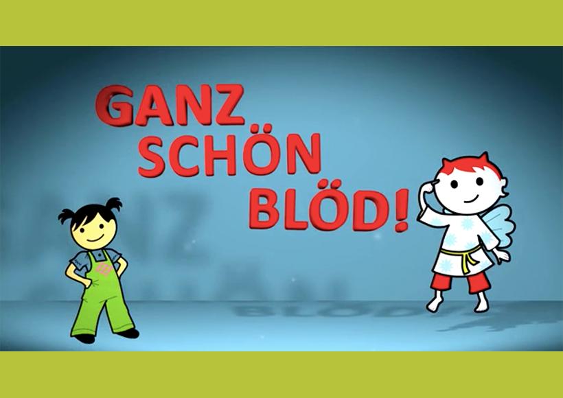 Bildauschnitt von der Startseite GANZ SCHÖN BLÖD!
