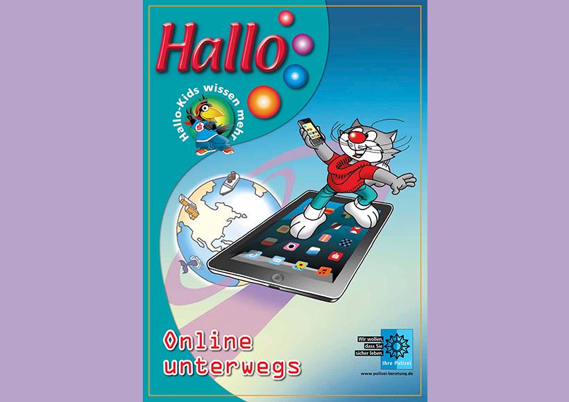 Bildauschnitt von der Startseite Hallo – Online unterwegs