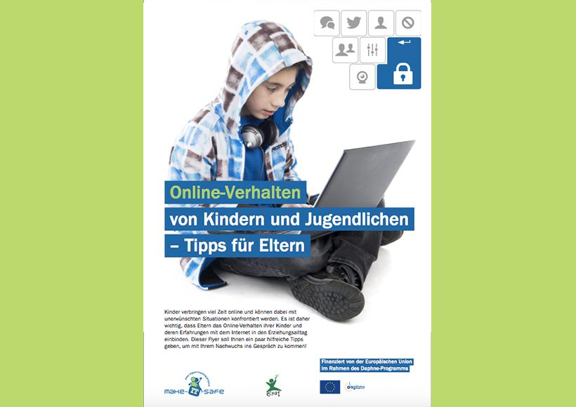 Bildauschnitt von der Startseite Online-Verhalten von Kindern und Jugendlichen – Tipps für Eltern