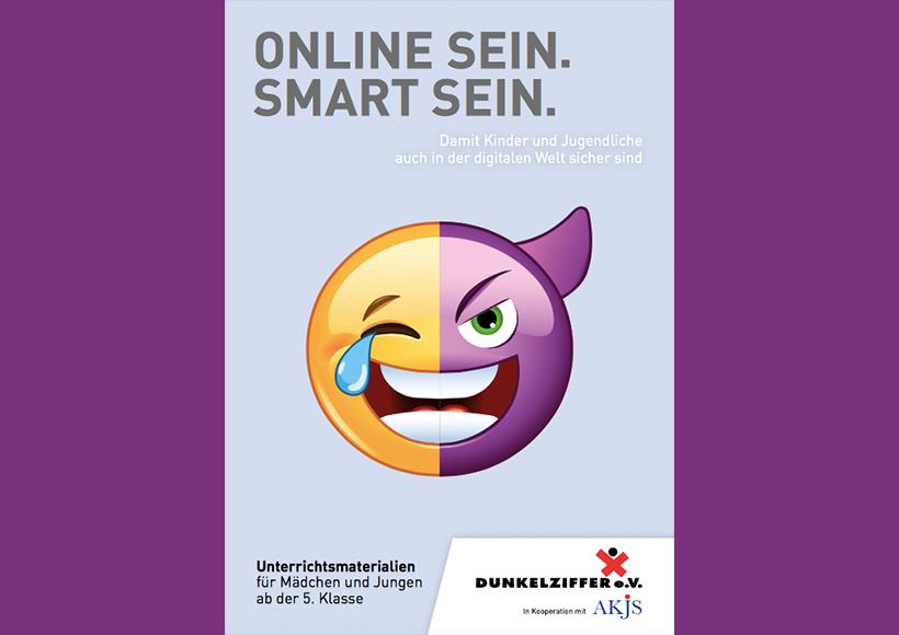 Bildauschnitt von der Startseite Online sein. Smart sein. Damit Kinder und Jugendliche auch in der digitalen Welt sicher sind